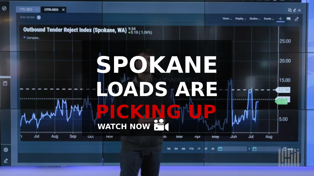 Spokane Outbound Loads Went Up This Week